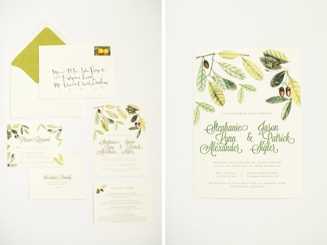 Stephanie and Jason Custom Wedding invitation