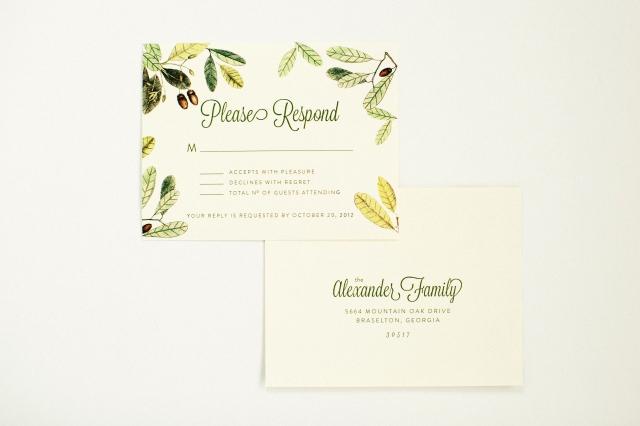 Stephanie and Jason Custom Wedding invitation